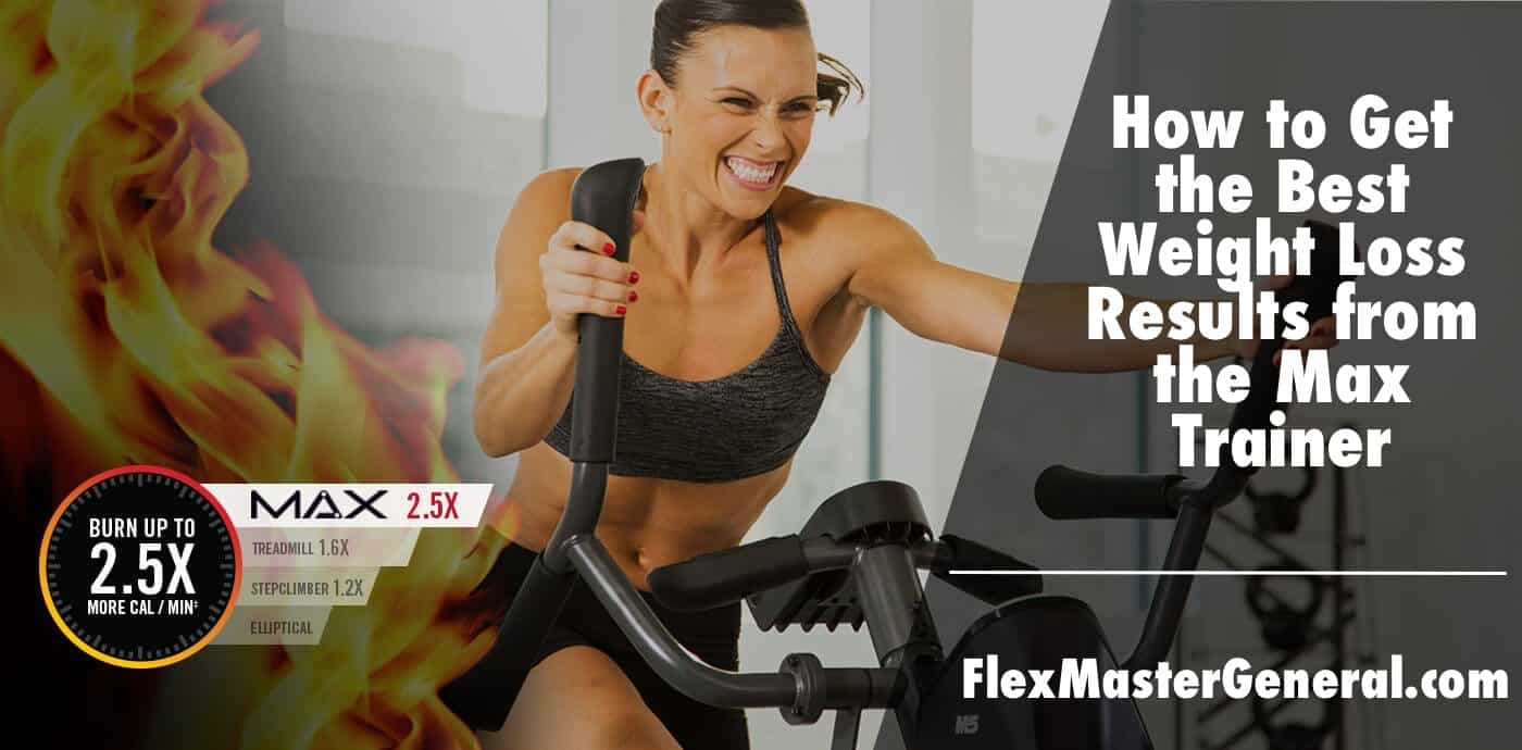 a guide explaining how often you need to use the max trainer to reach your weight loss goals