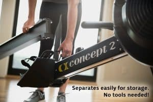 The Concept 2 is so easy to store