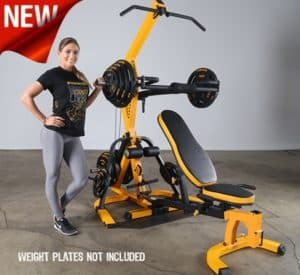 The Powertec Multi Station home gym in yellow