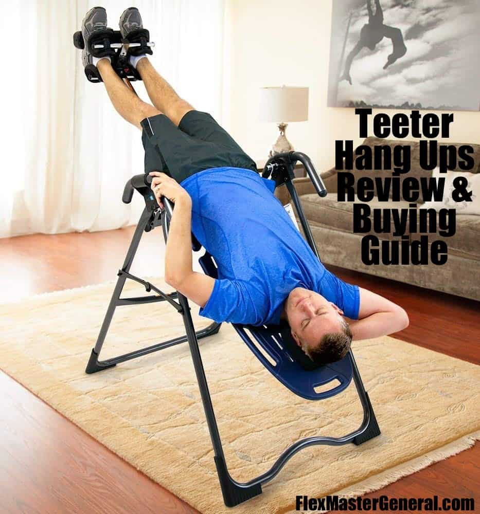 a man uses the teeter hang up for our review