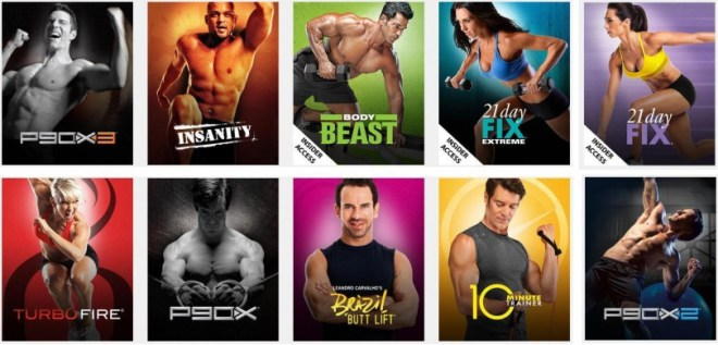 Some of the more popular Beachbody workouts you can stream anywhere