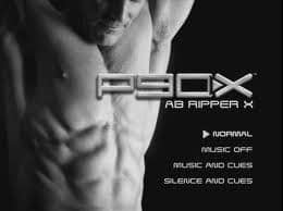 the main menu screen from the p90x ab ripper x workout program