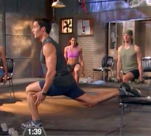 the p90x chair lunge