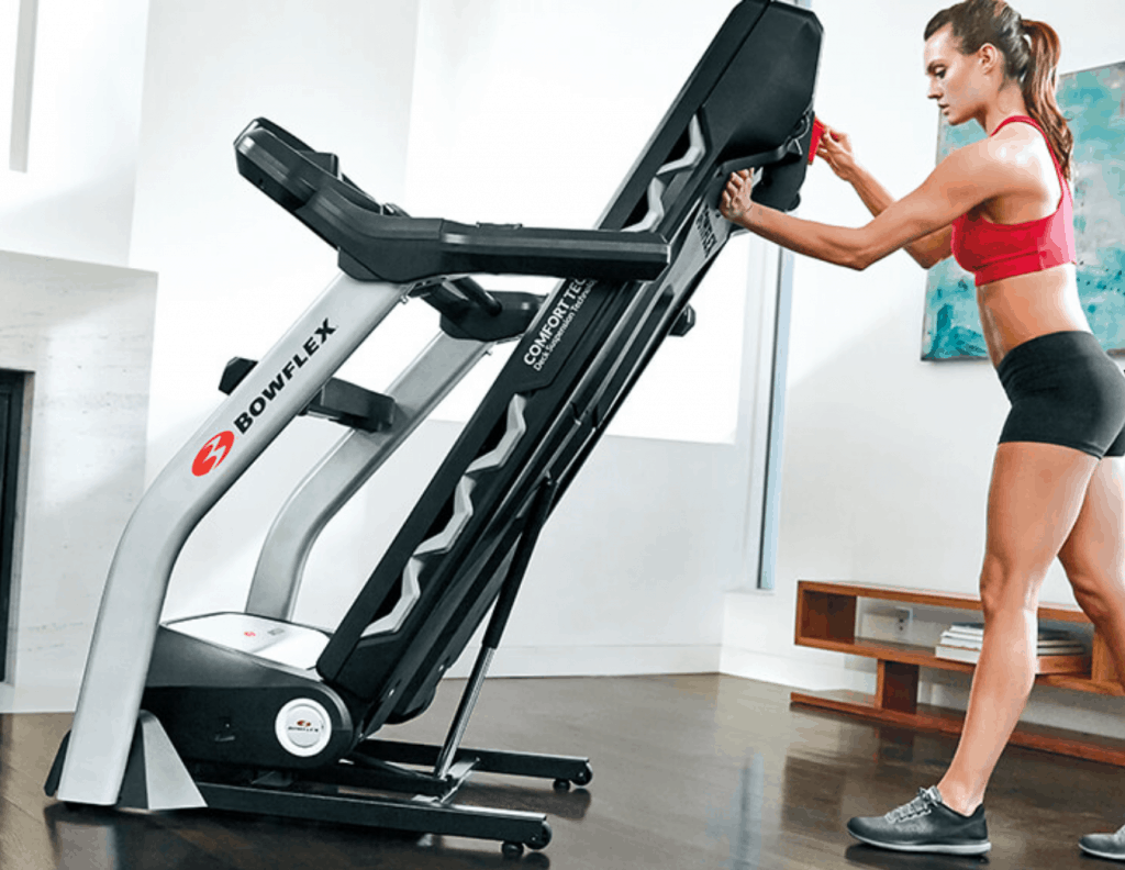 The new Bowflex treadmills are very easy to store