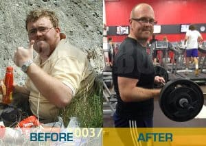a guy shows off his before and after crazy bulk story