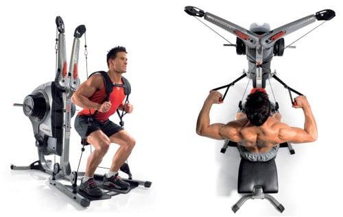 A man uses the Bowflex Revolution home gym