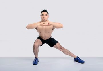 lateral lunges at home