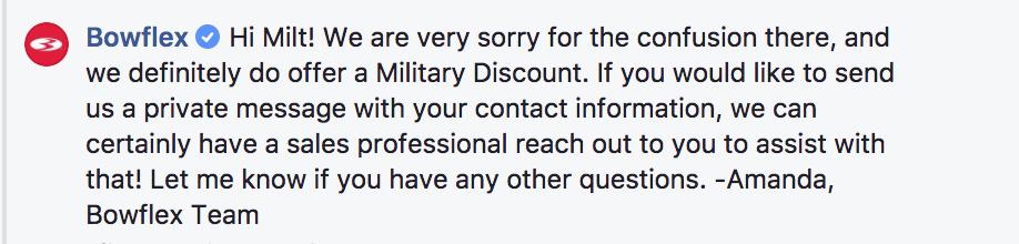 bowflex military deals