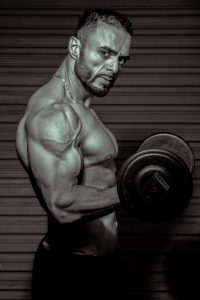 a male bodybuilder