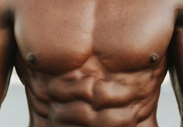 a man with shredded abs