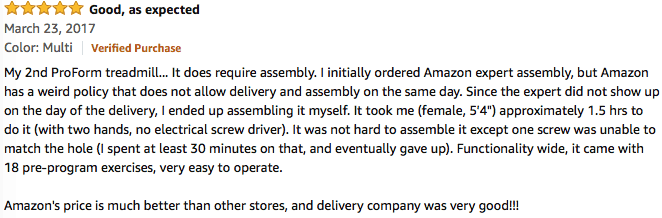 positive reviews on amazon