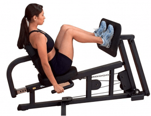 the horizontal seated leg press
