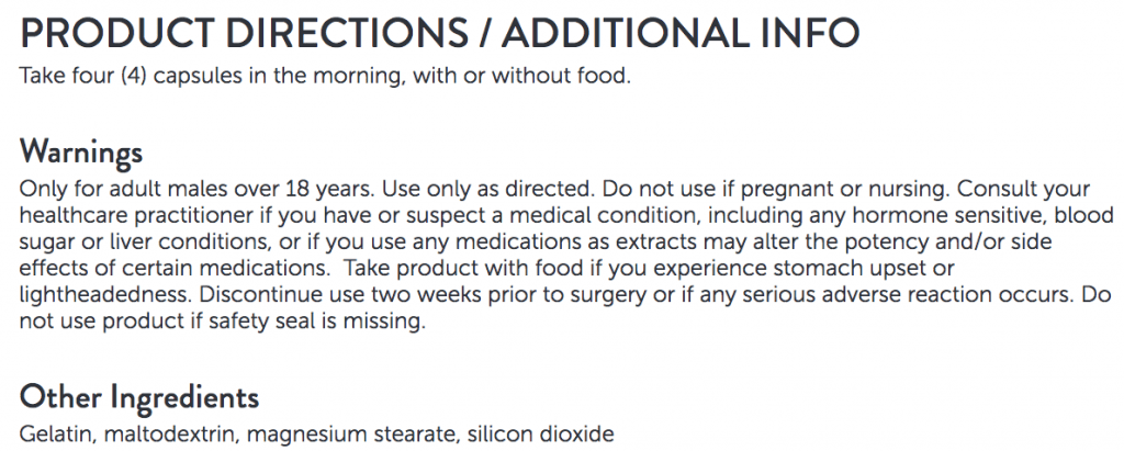 dosage instructions