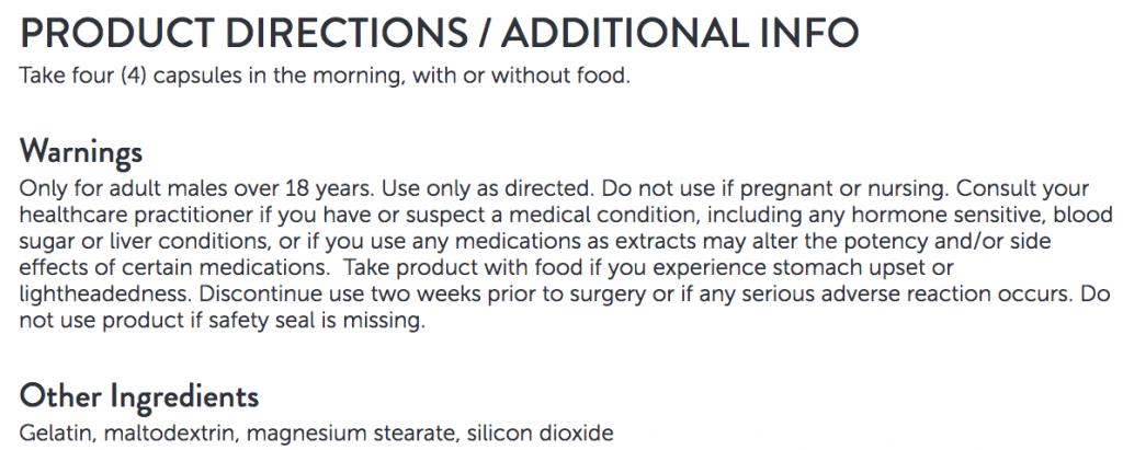dosage instructions