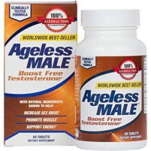 a bottle of ageless male