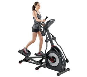 a fitness model rides the schwinn 470