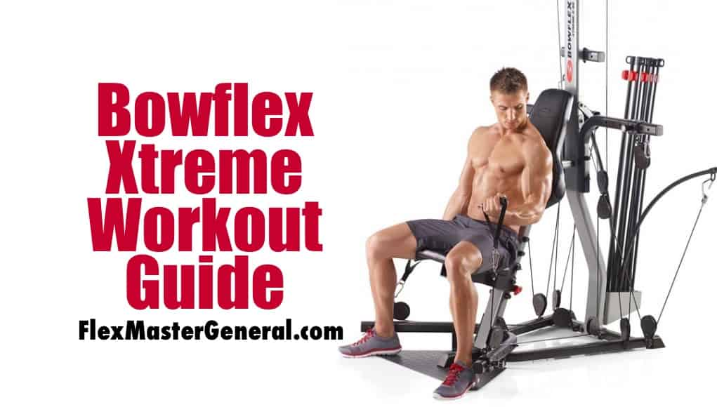 a man uses the bowflex xtreme after reading the workout guide