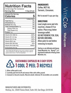 the ingredients and nutrition facts
