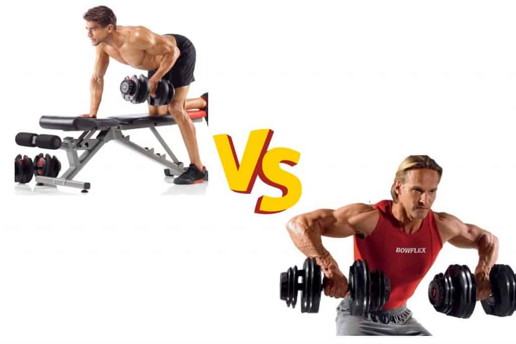 two fit men use the selecttech 552 and 1090 dumbbells to see which set is best