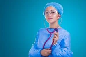 a nurse with a stethoscope