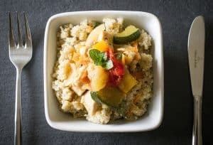 Quinoa is a great high-protein option for vegetarian bodybuilders