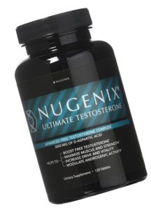 a bottle of Nugenix titled to the side