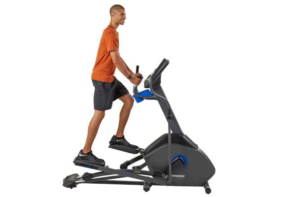 a guy rides the horizon advanced 7.0 AE elliptical