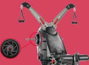 The Bowflex Revolution features SpiraFlex technology