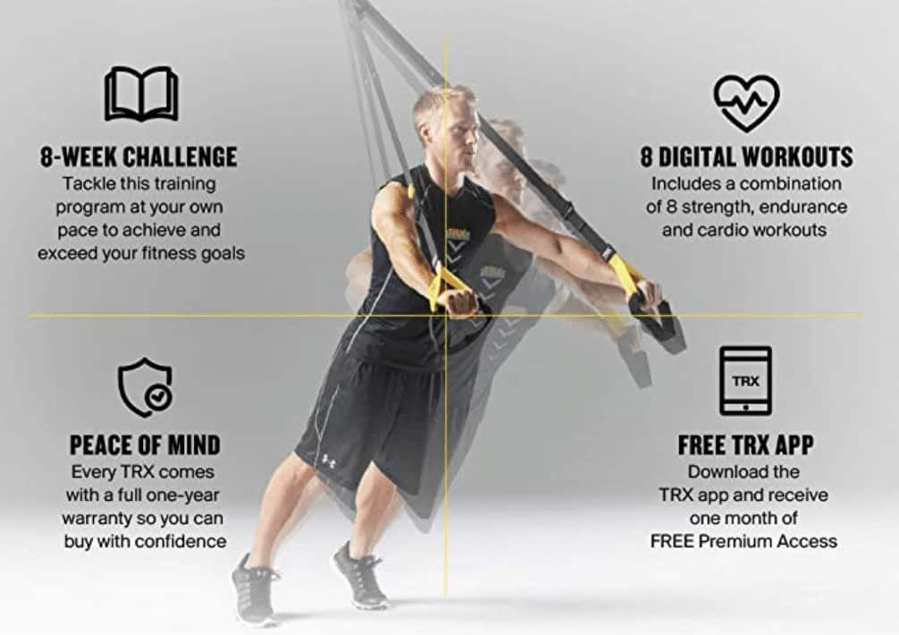 picture regarding Trx Workout Plan Printable known as TRX Suspension Teacher