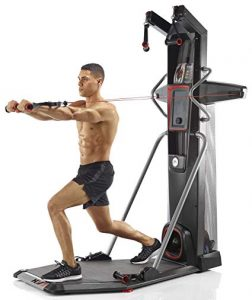 a man workouts out on the bowflex hvt