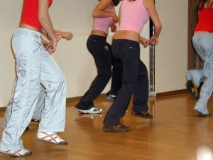 a jazzercise class