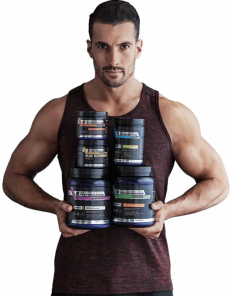 joel freeman holds beachbody supplements