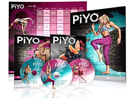 the dvd set, workout calendar and diet plan