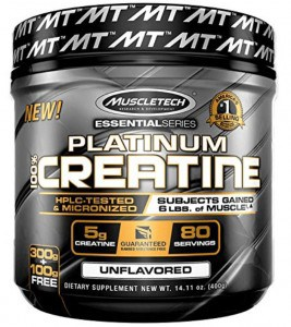 a jar of muscletech creatine