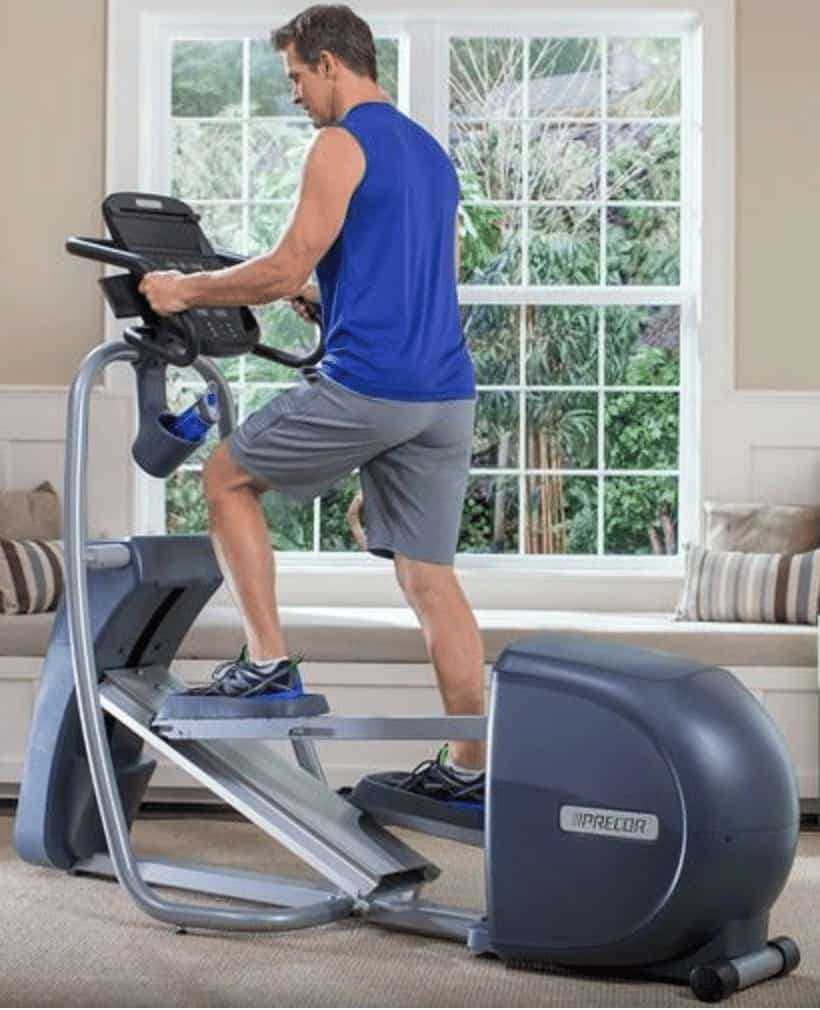 a man workouts on the 400 machine