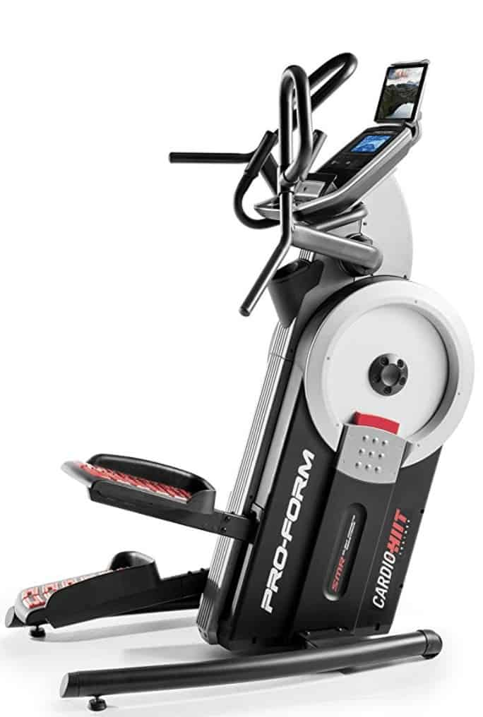a side profile of the proform hiit cardio trainer