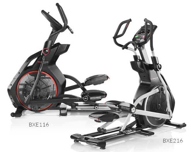 a side by side shot of bowflex's ellipticals