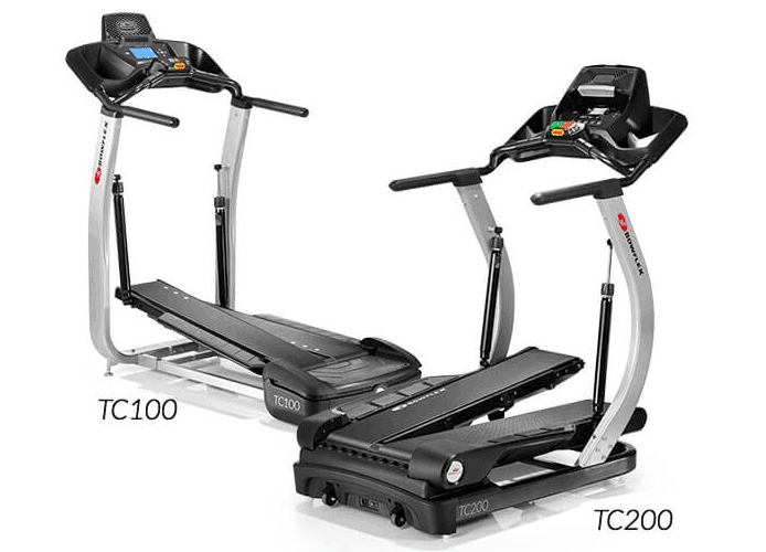 the treadclimber tc100 and tc200 side by side