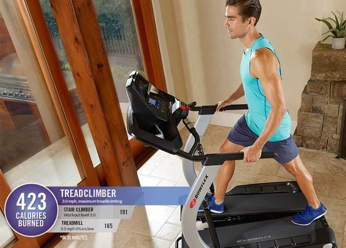 treadclimber calorie burn when compared to the treadmill and elliptical