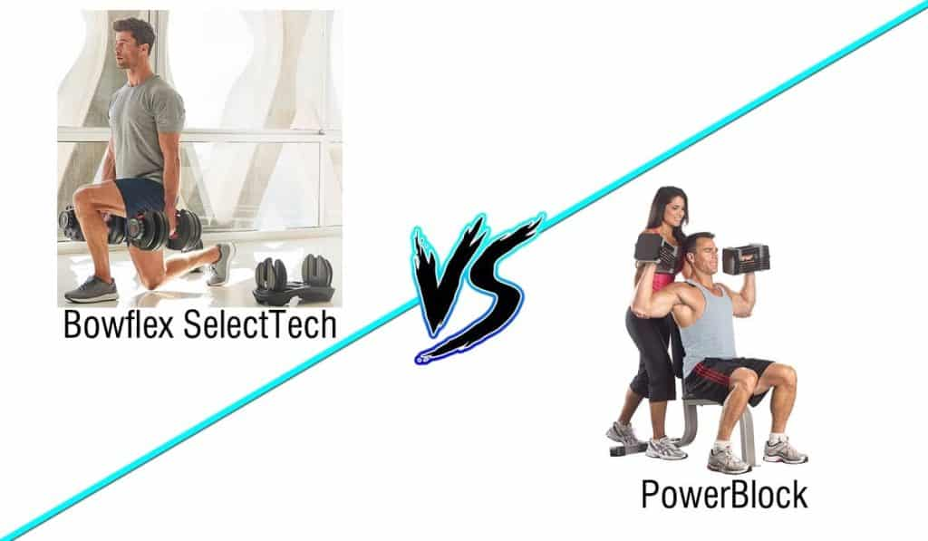 a comparison of bowflex dumbbells versus the powerblock elites