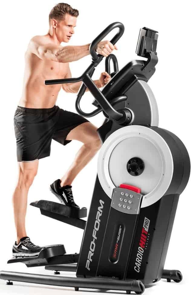 a man uses his proform hiit cardio trainer