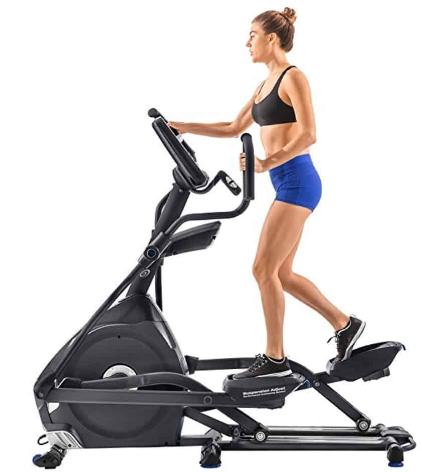a woman uses her new elliptical