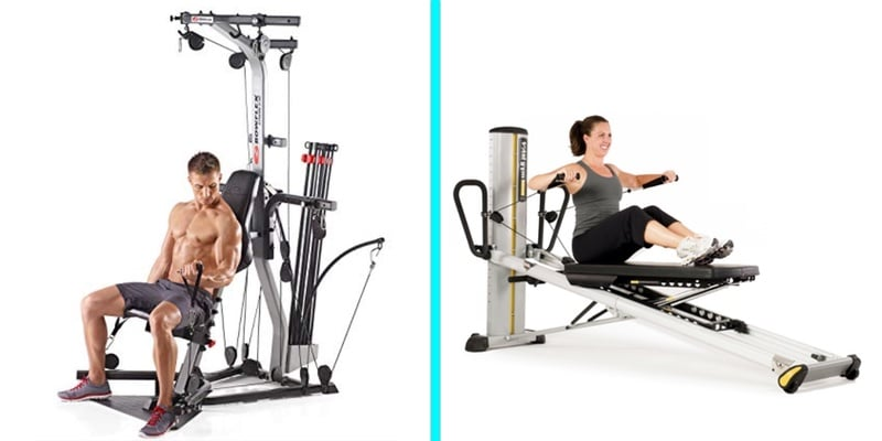 key differences between total gym and bowflex home gyms