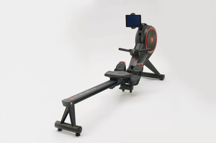 a side shot of their new rowing machine